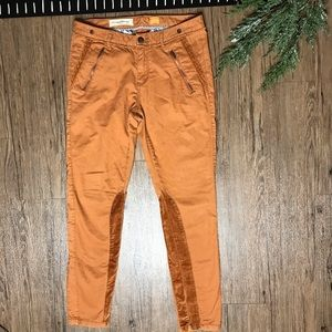 Pilcro Letterpress Anthropologie Jeans With Suede